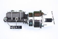 "Chevy C10 C20 7"" Dual Chrome Power Brake Booster Kit  Adj. Combo valve 4TBC7"
