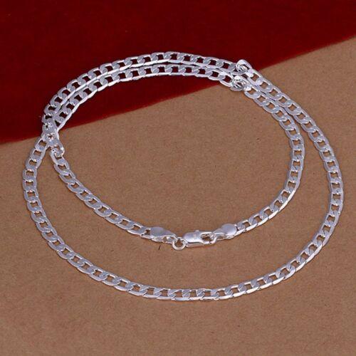 environ 76.20 cm Collier Pour Femmes N132 Sterling 925 Argent Massif Hommes Bijoux 4 mm chaîne 30 in