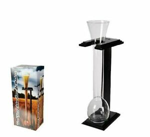 Brand-NewHalf-Yard-Glass-With-Wooden-Stand-Vase-Beaker-Drinking-Fun-Party