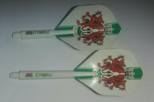 6 sets Cymru standard flights /& Cymru nylon stems Welsh packs 3 sets of each