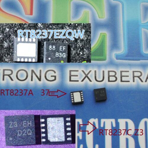 lot of RT8237A 37 DA 37= RT8237CZQW RT8237C Z3 DC RT8237EZQW RT8237E 88 QFN IC