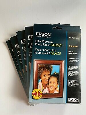 5x7 Inches, 20 Sheets Epson Ultra Premium Photo Paper GLOSSY S041945