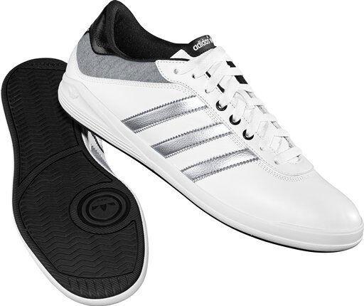 NUOVA Adidas Originals Adi T Tennis Sneaker Retro Scarpe Da Ginnastica In Pelle Bianco Scarpe classiche da uomo
