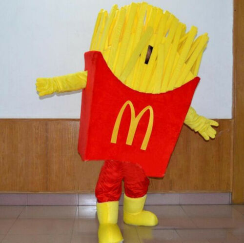 Advertising McDonald/'s French Fries Mascot Costumes Suits Cosplay Adults Size US