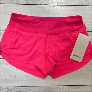 Lululemon Speed Up Lr Short 2 5 Lined Pink Highlight Choose Sz Nwt Ebay