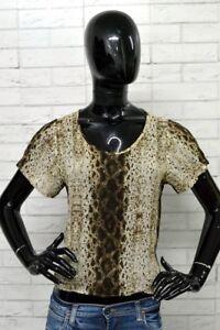 Maglia-ICEBERG-Donna-Taglia-46-Shirt-Blusa-Camicia-Woman-Hemd-T-shirt-Leopardata
