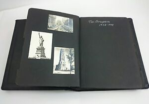 1943-1944-NEW-YORK-PHOTO-ALBUM-WW2-The-Straders-Vintage-Architecture-Picture-B-amp-W