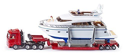 1:87 Low Loader Transporter W/Yacht - Die-Cast Vehicle - Siku 1849