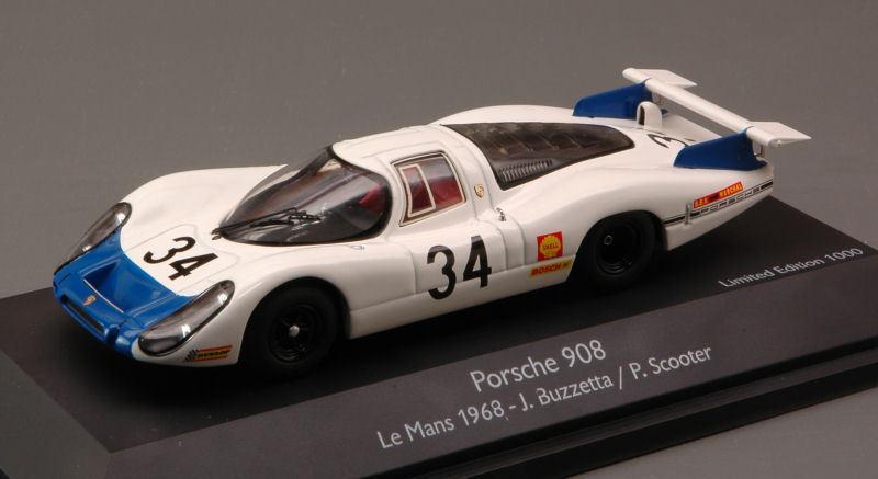 Porsche 908 LH Le Mans 1968 Buzzetta Scooter 1 43 Model 3720 SCHUCO