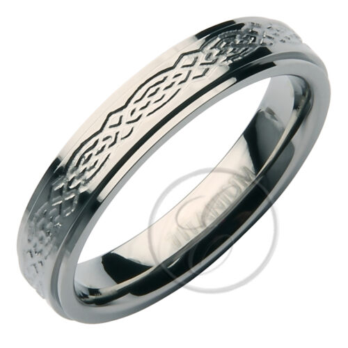 Titanium Ring Stunning Designed Wedding Band 4mm or 6mm Band