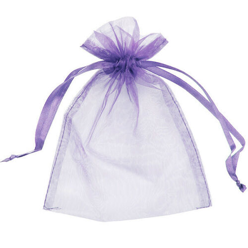 50 Organza Bags Gift Pouches Jewellery Packaging Wrapping Wrap Mesh Drawstring