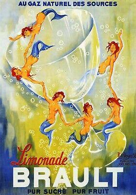 AZ28 Vintage 1920/'s Sewa Lemonade German Advertisement Poster A1//A2//A3//A4