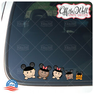 Mouse-Ears-Stick-Figure-Family-13-Characters-FULL-COLOR-Vehicle-Car-Truck