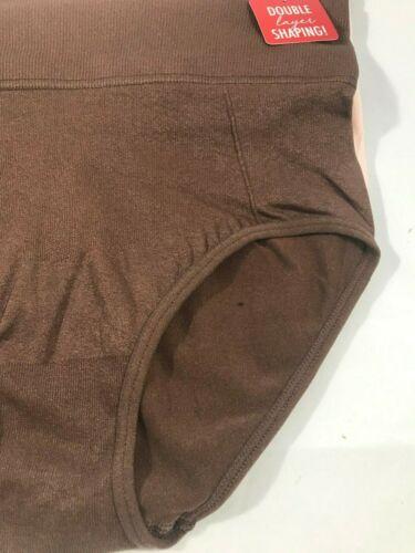 Brown /& Beige NWT Skinnygirl Seamless Shaping Briefs Style 7074 3 Pack Black