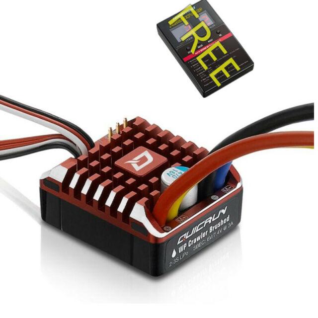 Hobbywing QUICRUN Crawler 1080 80A ESC Speed Controller & Free ESC program Card