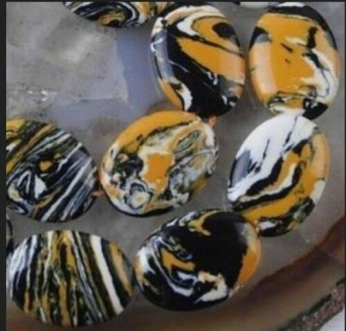 "10x14mm multicoloe jaune Turquie Turquoise Ovale Gemstone Loose Beads 15/"""