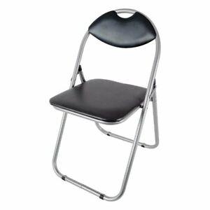 Magnificent Details About Folding Office Chair Padded Black Faux Leather Fold Up Seat Backrest Dining Home Squirreltailoven Fun Painted Chair Ideas Images Squirreltailovenorg