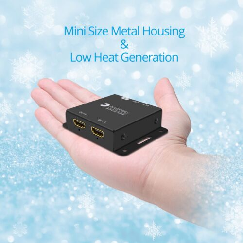 gofanco 4K 60Hz HDR 1x2 Port HDMI 2.0 Splitter w// Scaler 1 In 2 Out HDCP 2.2