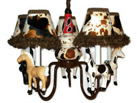 Nursery Chandelier Child Light Western Horses