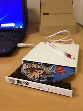 External White USB Slim 8x DVDRW DL DVD CD RW Burner Writer Drive All PC and Mac