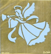Le Suh Embossingschablone Prägeschablone Metallschablone Engel mit Trompete