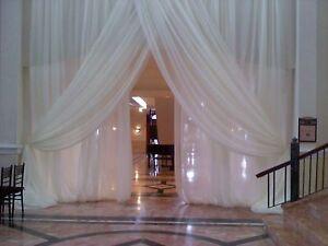 Image Is Loading Wedding Backdrop Drapes Panels 11 Ft X114 034