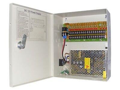 POWER SUPPLY Box FOR CCTV CAMERAS 12V 20AMP 18Port