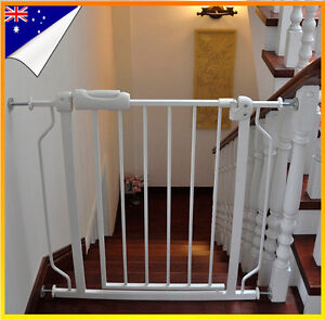 75 86cm Adjustable Baby Pet Child Safety Gate Extra Wide Extension