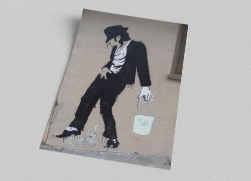 ACEO Banksy Michael Jackson Graffiti Street Art on Canvas Giclee Print