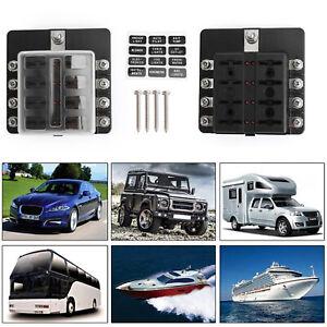 8-vias-Blade-Caja-de-fusible-titular-LED-Indicator-32V-Universal-100Amp-Estanco