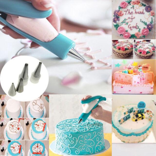 Pastry Icing Piping Bag Nozzle Tips Fondant Cake Sugar Craft Decorating Pen Set
