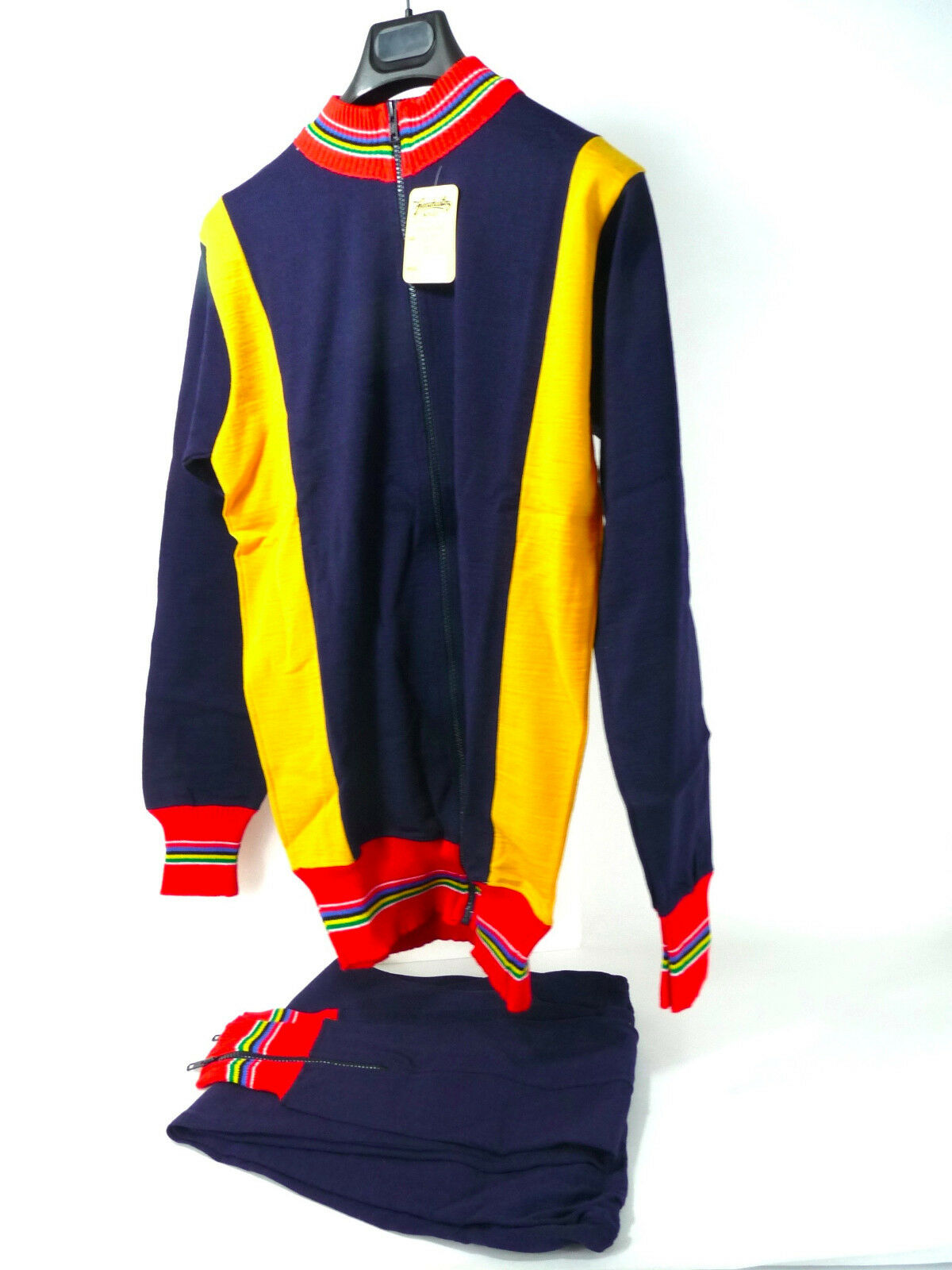 1980'S  wool Cycle training suit  Vintage Bike Size 5 w measurement NOS  cheap and high quality
