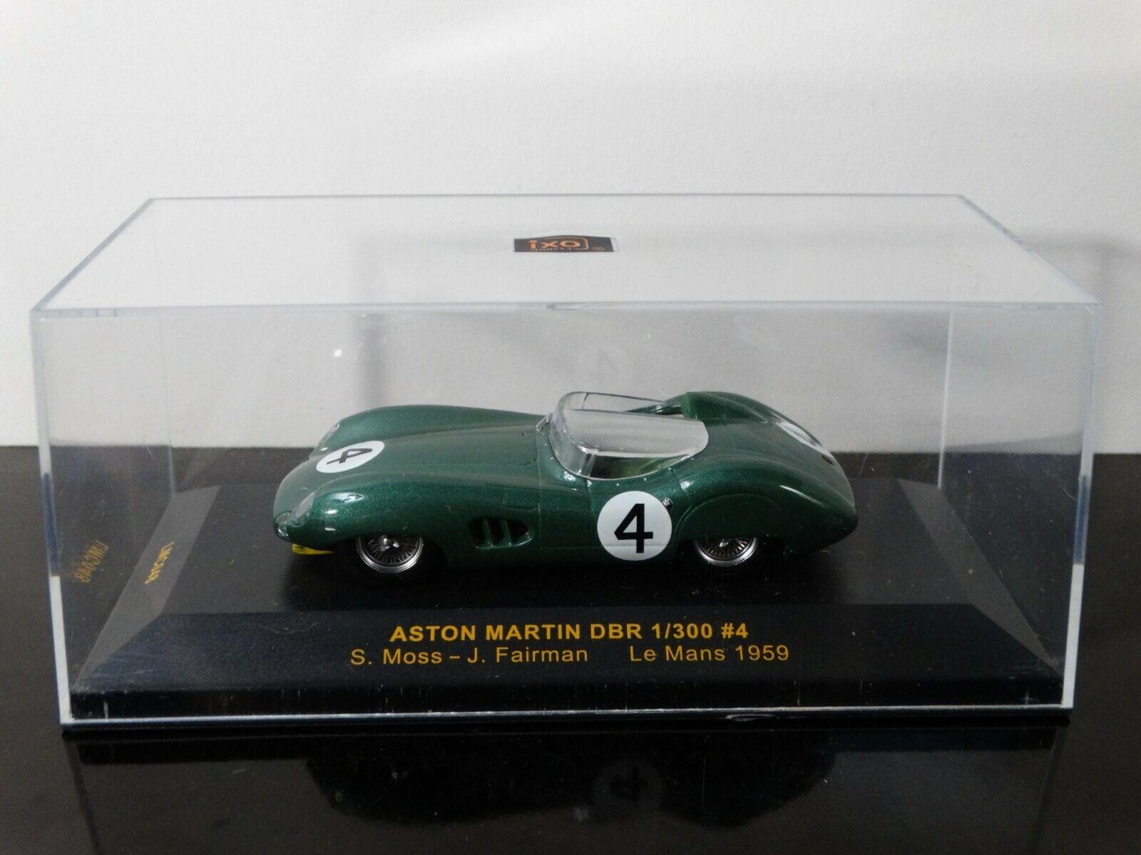 IXO Models Aston Martin DBR DBR DBR 1959 LeMans Moss Fairman  43 Scale Diecast Car 2b342a