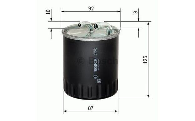 BOSCH Filtro combustible SEAT LEON VOLKSWAGEN RENAULT CLIO F 026 402 065