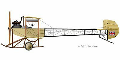 1911 AvReo Biplane 60 in WS  Giant Scale RC Model AIrplane Prined Plans