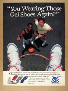 1987 Asics Tiger Gel Basketball Shoes vintage print Ad