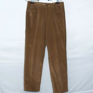 Talbots-Womens-Pants-Brown-Corduroy-Heritage-Fit-Straight-Leg
