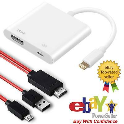 official photos 82134 f21fe 2M MHL TO HDMI Cable For Android | 8 Lightning to HDMI Adapter For iPhone 6  7 8 | eBay