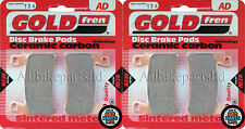 GOLDFREN HH SINTERED FRONT BRAKE PADS (2xSets)for HONDA CBR 600-F 1999 FX CBR600