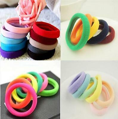 New High Quality 10pcs Rope Ring Hairband Women Hair Band Ponytail Holder TI AU