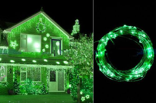 20////50//100 LED Draht Lichterkette Unterwasser biegsam inkl Batterie Wasser