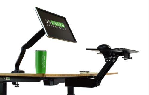 KT2 Adjustable Height Angle Standing Desk Keyboard Tray Negative Tilt Sit Stand