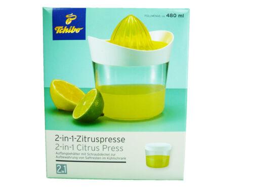 TCM Tchibo Zitruspresse 2 in 1 Saftpresse Presse /& Behälter mit Deckel NEU