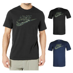 Nike-Men-039-s-Short-Sleeve-Camouflage-Logo-Graphic-Athletic-Cut-T-Shirt