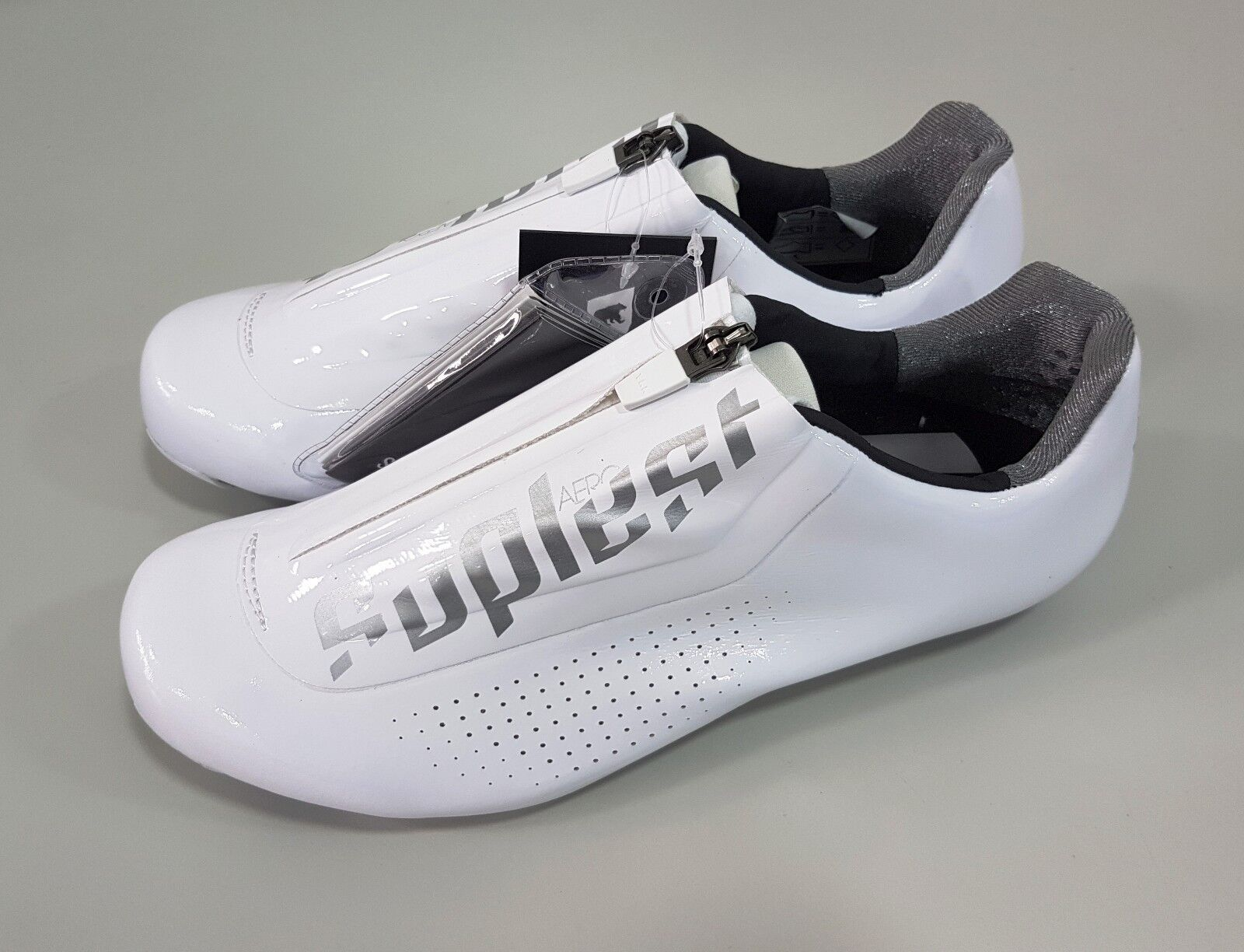 Suplest Aero Carbon Road Bike Cycling Road shoes White Size 40