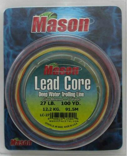 Mason LC-27 Lead Core Trolling Line 200 yds Spool 27 Lb Test 22312