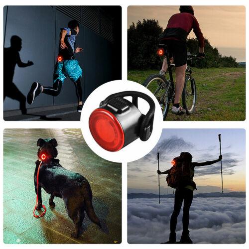 2PCS 12LED USB Rechargeable Bike Lights Set Taillight Caution Bicycle Light