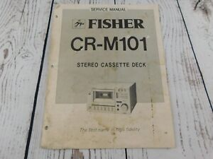 image is loading fisher-cr-m101-stereo-cassette-deck-service-manual-