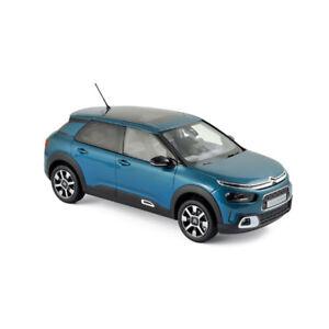 Norev 181660 Citroën C4 Cactus Bleu 2018 Échelle 1:18 Maquette De Voiture Neuf