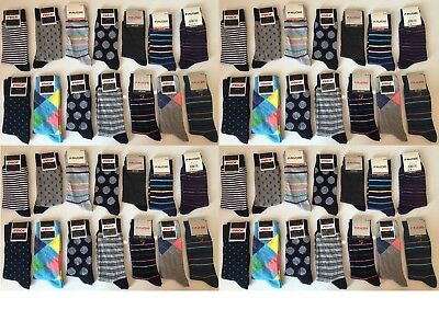 20 Pairs Men's Adults Cotton Rich Socks With Mix Coloured Uk Size 6-11 Aytalam
